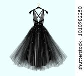 beautiful black dress for... | Shutterstock .eps vector #1010982250