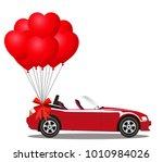 red modern opened cartoon...   Shutterstock .eps vector #1010984026