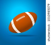 football ball with blue... | Shutterstock .eps vector #1010985079