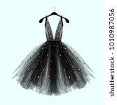 black fancy dress for special... | Shutterstock .eps vector #1010987056