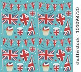 seamless united kingdom party... | Shutterstock .eps vector #101098720