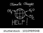 climate change  methane ... | Shutterstock . vector #1010989048