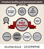 premium quality and guaranteed... | Shutterstock .eps vector #101098948