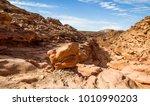 color conyon in sinai desert ... | Shutterstock . vector #1010990203