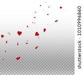 3d hearts. radiant left top... | Shutterstock .eps vector #1010996860