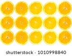slices and pieces of sliced... | Shutterstock . vector #1010998840