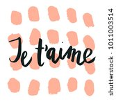 happy valentine lettering je t... | Shutterstock .eps vector #1011003514