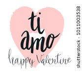 happy valentine lettering ti... | Shutterstock .eps vector #1011003538
