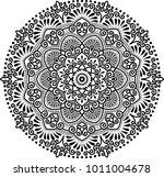 mandala pattern black and white ... | Shutterstock .eps vector #1011004678