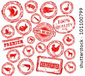 set various grunge rubber stamp ... | Shutterstock .eps vector #101100799
