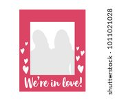 valentine's day photobooth prop ... | Shutterstock .eps vector #1011021028