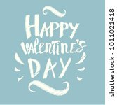 hand drawn valentines day... | Shutterstock .eps vector #1011021418