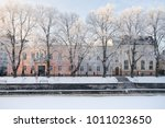front view of old colorful...   Shutterstock . vector #1011023650