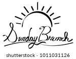 an image of a sunrise sunday... | Shutterstock .eps vector #1011031126