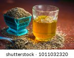 black cumin seeds shah jerra... | Shutterstock . vector #1011032320