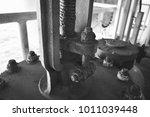 rust nut black white offshore... | Shutterstock . vector #1011039448