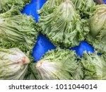 lettuce in market   Shutterstock . vector #1011044014