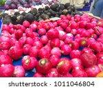 red radish in market    Shutterstock . vector #1011046804