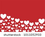 red heart shape vector... | Shutterstock .eps vector #1011052933