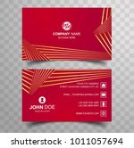 creative and clean double sided ... | Shutterstock .eps vector #1011057694