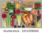 health food to lose weight with ... | Shutterstock . vector #1011058060
