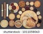 dried macrobiotic diet health... | Shutterstock . vector #1011058063