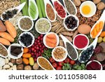 health food to improve brain... | Shutterstock . vector #1011058084