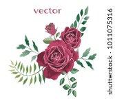 vector illustration of branch... | Shutterstock .eps vector #1011075316