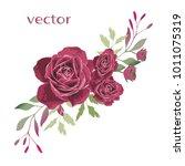 vector illustration of branch... | Shutterstock .eps vector #1011075319
