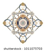the deformation of flowers  the ... | Shutterstock . vector #1011075703