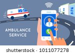 emergency call concept... | Shutterstock .eps vector #1011077278