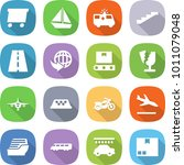 flat vector icon set   delivery ... | Shutterstock .eps vector #1011079048