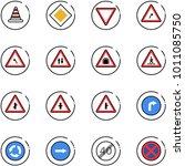 line vector icon set   road... | Shutterstock .eps vector #1011085750