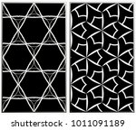 monochrome seamless patterns... | Shutterstock . vector #1011091189