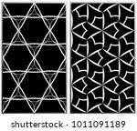 monochrome seamless patterns...   Shutterstock . vector #1011091189