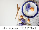 easter holiday festive dining... | Shutterstock . vector #1011092374