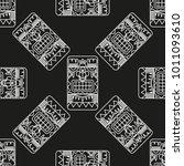 seamless pattern illustration... | Shutterstock .eps vector #1011093610