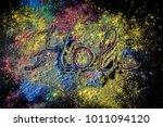 holi paint festival background... | Shutterstock . vector #1011094120