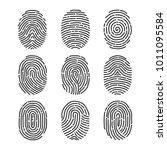a fingerprint  a set of... | Shutterstock .eps vector #1011095584