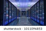 server room  bit coin mining ... | Shutterstock . vector #1011096853