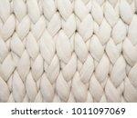 merino wool handmade knitted... | Shutterstock . vector #1011097069