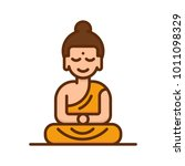 buddha icon. buddhism religion... | Shutterstock .eps vector #1011098329