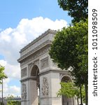 the arc de triomphe de l' toile ... | Shutterstock . vector #1011098509