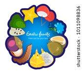 fruit poster of vector fruits...   Shutterstock .eps vector #1011098836