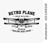 retro plane logo design... | Shutterstock .eps vector #1011105220