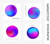 abstract gradient in the sphere ... | Shutterstock .eps vector #1011105694