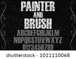 vintage font typeface... | Shutterstock .eps vector #1011110068