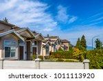 a perfect neighborhood. houses... | Shutterstock . vector #1011113920