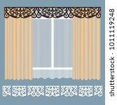 openwork lambrequin  pattern... | Shutterstock .eps vector #1011119248