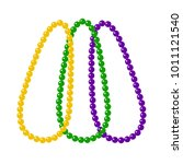 beads for mardi gras carnival... | Shutterstock .eps vector #1011121540